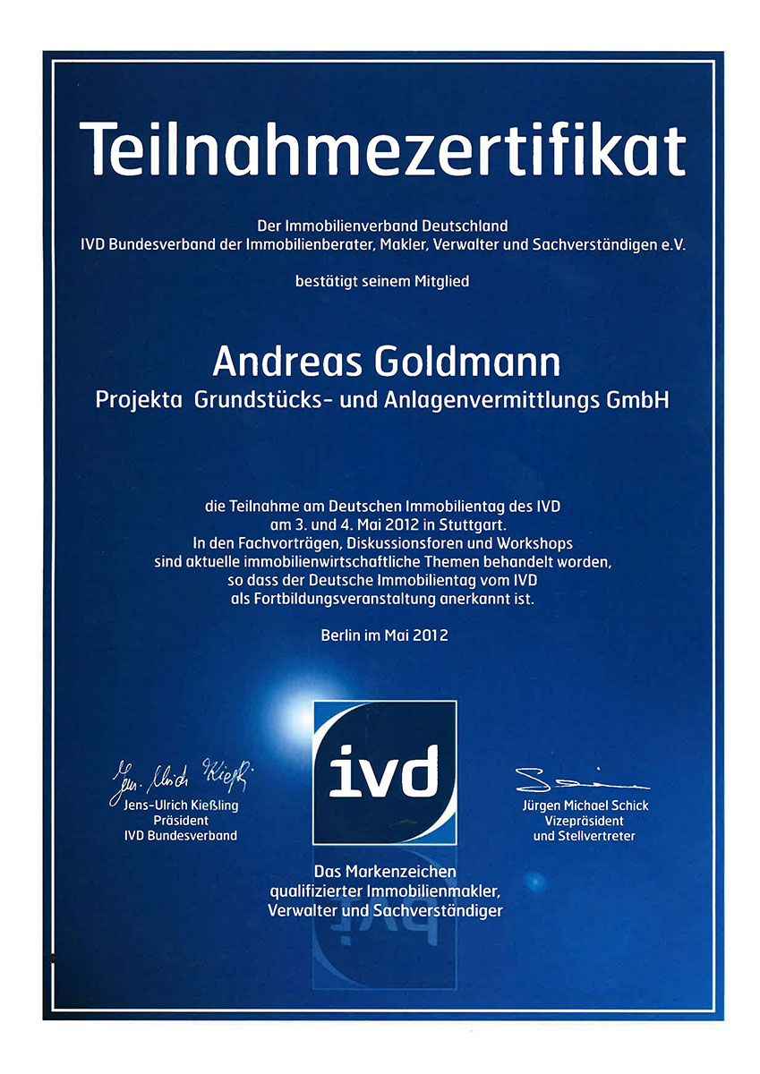 Immobilientag IVD 2012