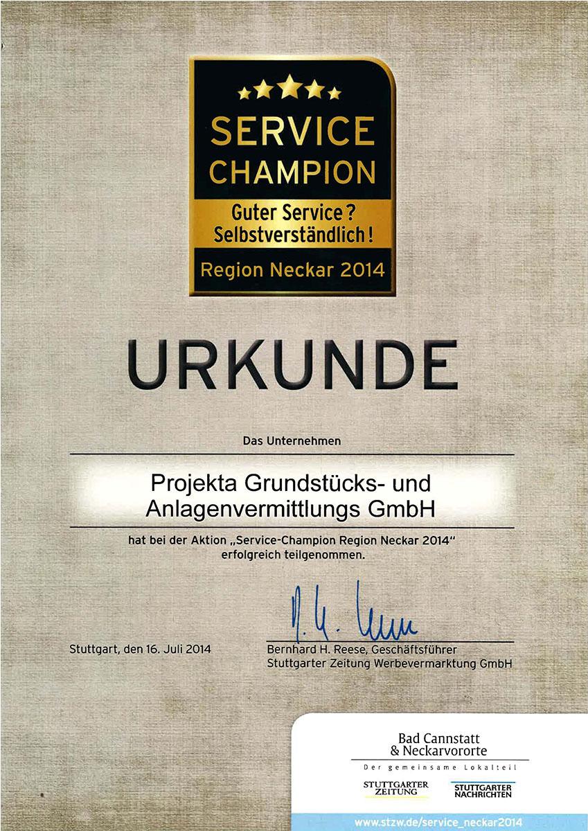 Service Champion 2014