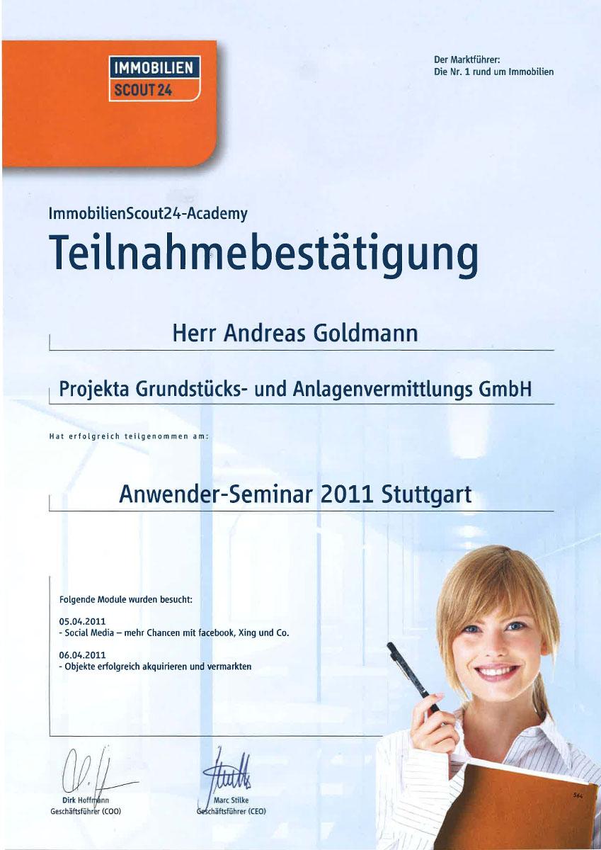 Anwender Seminar 2011