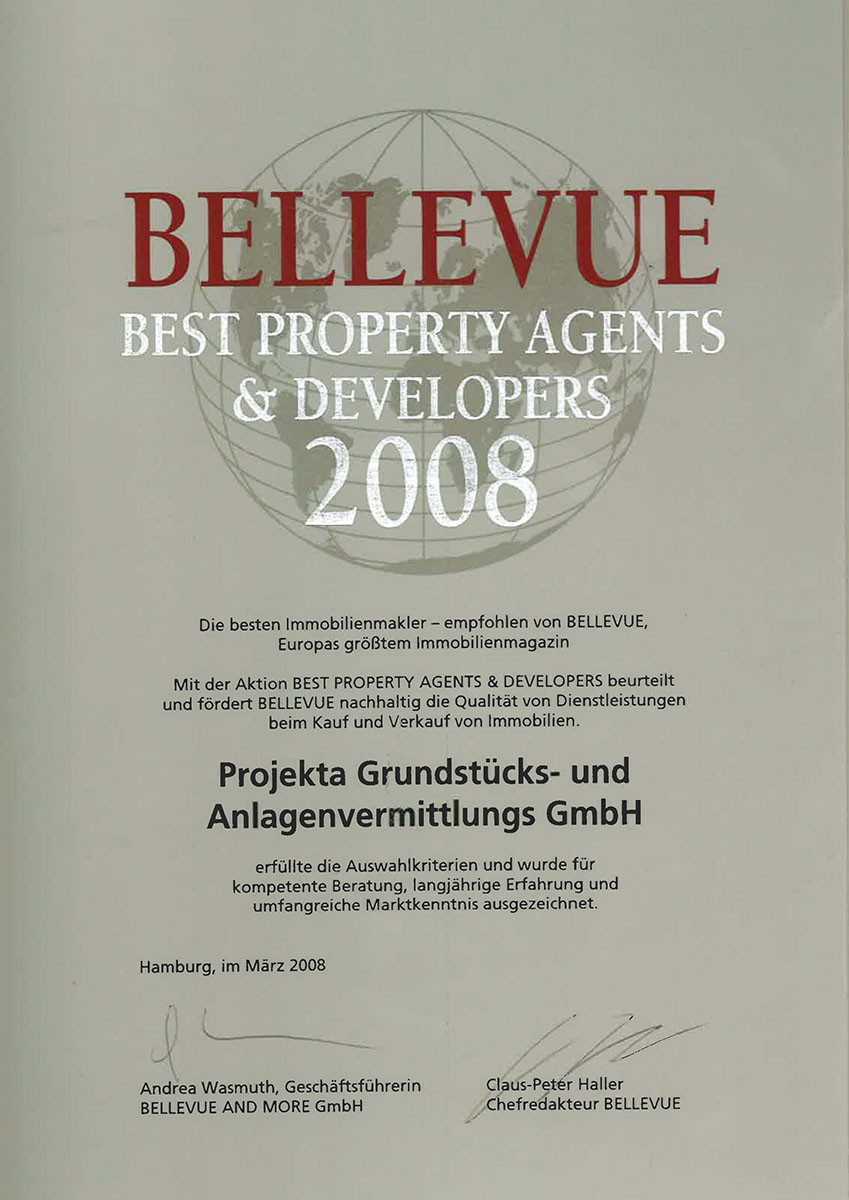 Bellevue Best Property Agents 2008